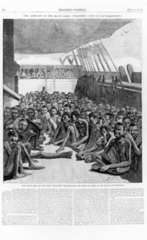The Slave Deck of the Bark 'Wildfire' von American School