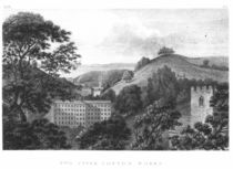 Two Upper Cotton Works, New Lanark Textile mills by English School