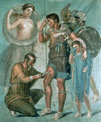 Aeneas injured, from Pompeii by Roman
