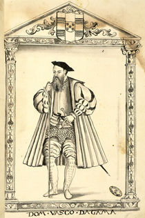 Vasco da Gama from 'Lendas da India' by Gaspar Correia by Portuguese School