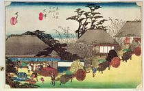 Otsu, illustration from 'Fifty Three Stations of the Tokaido Road' by Ando or Utagawa Hiroshige