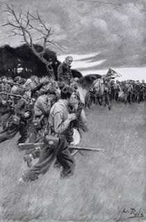 'His army broke up and followed him by Howard Pyle