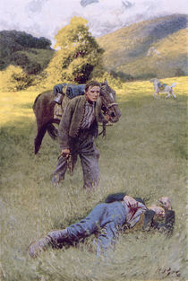 A Lonely Duel in the Middle of a Great Sunny Field by Howard Pyle