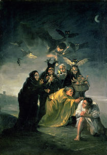 The Witches' Sabbath by Francisco Jose de Goya y Lucientes