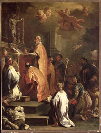 The Mass of St. Gregory von Luca Giordano