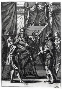 Cortes and Montezuma, from Antonio de Solis y Rivadeneira Solis' 'History of the Conquest of Mexico' by American School