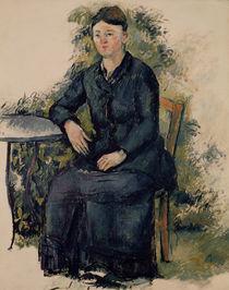 Madame Cezanne in the Garden by Paul Cezanne