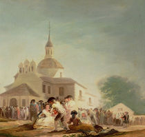 The Hermitage of San Isidro by Francisco Jose de Goya y Lucientes