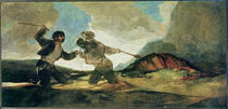 Duel with Clubs von Francisco Jose de Goya y Lucientes