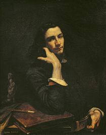 The Man with the Leather Belt. Portrait of the Artist von Gustave Courbet