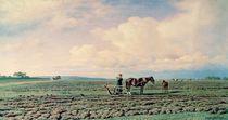 In the Field, 1872 by Mikhail Konstantinovich Klodt