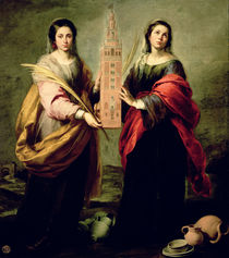 St. Justina and St. Rufina by Bartolome Esteban Murillo
