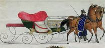 Horse Drawn Sleigh by Russian School