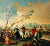 Dance on the Banks of the River Manzanares by Francisco Jose de Goya y Lucientes