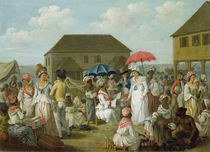 Linen Market, Dominica, c.1780 by Agostino Brunias