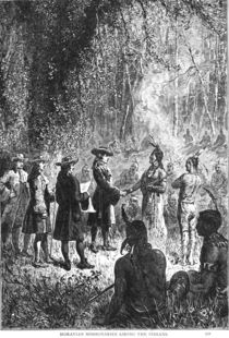 Moravian Missionaries Among the Indians by American School