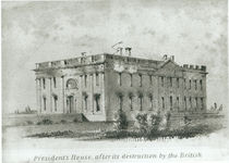 The President's House After its Destruction by the British by American School