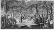 Major Long Holding a Council with the Oto Indians by Samuel Seymour