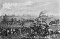 Landing of troops on Roanoke Island by William Momberger