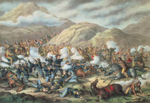 The Battle of Little Big Horn by American School