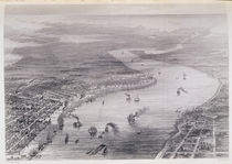 Bird's-Eye View of New Orleans by J. Wells