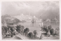 A View of Baltimore, from 'The History of the United States' by William Henry Bartlett