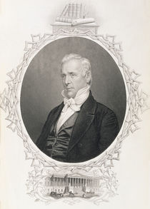 James Buchanan, from 'The History of the United States' by American School