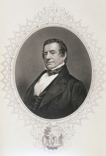 Washington Irving, from 'The History of the United States' by American School