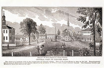 Central part of Concord, from 'Historical Collections of Massachusetts' von John Warner Barber
