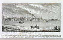 South-eastern view of Nantucket von John Warner Barber