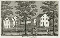 Shaker houses in Enfield, from 'Connecticut Historical Collections' von American School
