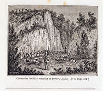 Connecticut Soldiers Reposing on Porter's Rock before Attacking the Pequot Fort by John Warner Barber