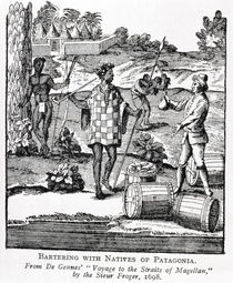 Spaniard Bartering with Natives of Patagonia by German School
