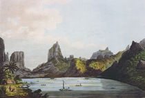 View of the Harbour of Taloo in the Island of Eimeo von John Webber