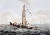 A Sailing Canoe of Otaheite von John Webber
