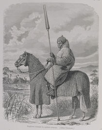 Baghirmi trooper in quilted armour von English School