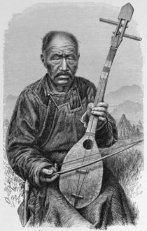 A Mongol musician, from 'The History of Mankind' von English School