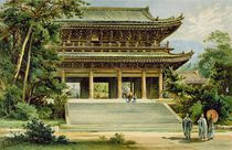 Buddhist temple at Kyoto, Japan von Ernst Heyn