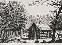 A frontier cabin, from 'The Pageant of America von American School