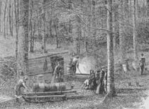 At the Maple Syrup Camp, illustration from 'Harper's Weekly' von American School