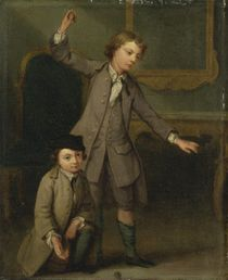 Two Boys of the Nollekens Family von Joseph Francis Nollekens