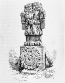 Statue of the Goddess Coatlicue von P. Sellier