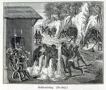 Gold Mining, from 'Santo Domingo Past and Present' by Samuel Hazard by Theodore de Bry