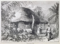Negro Habitations, from 'Santo Domingo Past and Present' by Samuel Hazard by English School