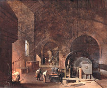 Interior of an Ironworks, c.1850-60 by Godfrey Sykes