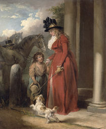 The Squire's Door, c.1790 by George Morland