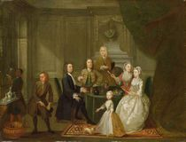 Group Portrait, Probably of the Raikes Family by Gawen Hamilton
