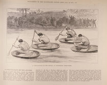 A Coracle Race on the Severn at Ironbridge von English School