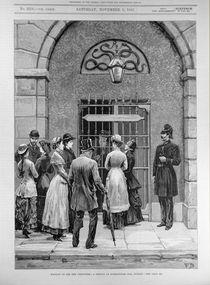 Waiting to See the Prisoners; A Sketch at Kilmainham Jail von English School