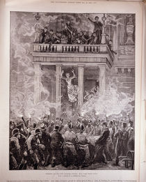 Burning of the Ring Theatre by English School